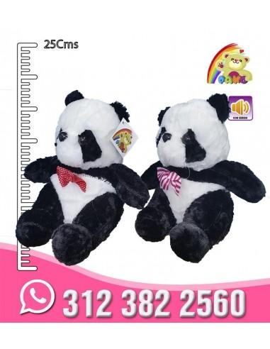 Panda peluche corbatín