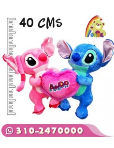 Peluche Stitch y Angel
