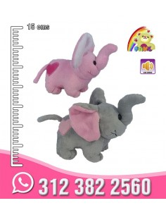Elefante corazon bordado