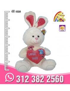 Conejo Corazón Flor