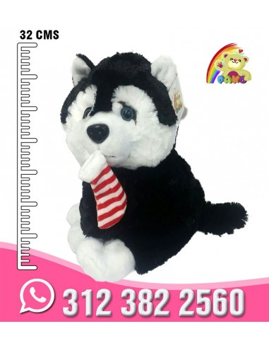 PERRO SIBERIANO PELUCHE - REF: CJBL5656-1