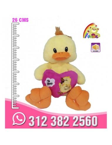 Pato Corazón Bordado
