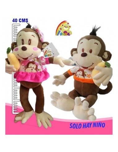 Peluche mico banano